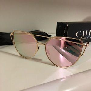 Chic Wishlist Rose gold mirrored sunglasses